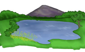 300x185 Forest And Lake Clip Art Clipart Download