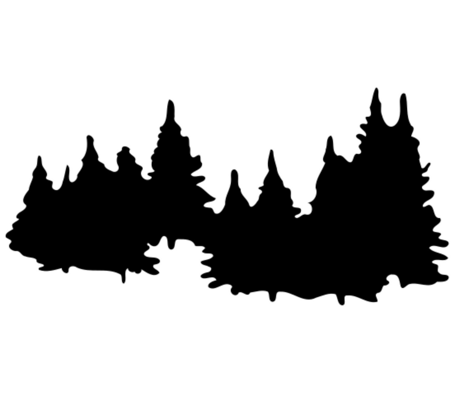 1600x1411 Forest clipart silhouette