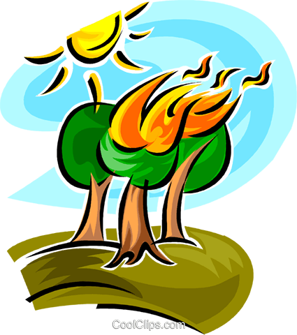 425x480 forest fire Royalty Free Vector Clip Art illustration vc062670