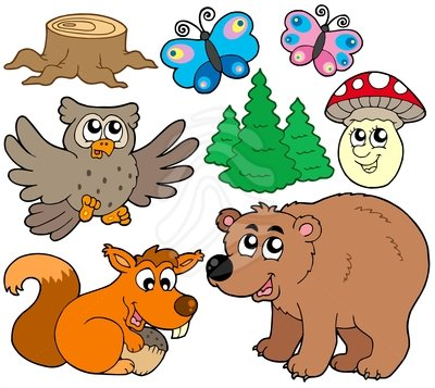 400x357 Forest Animals Clipart