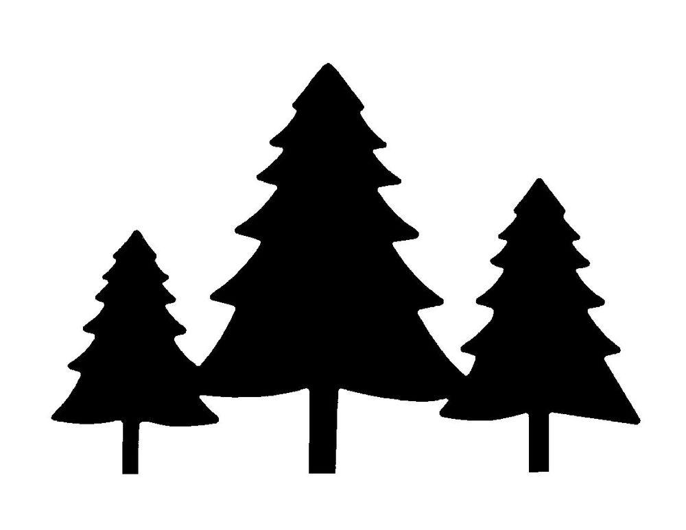 1000x773 Fir Tree Clipart Silhouette