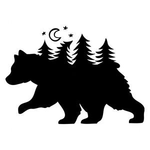 300x300 Best Bear Silhouette Ideas Animal Silhouette