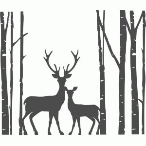 300x300 Birch Tree Christmas Silhouettes Clip Art Merry Christmas
