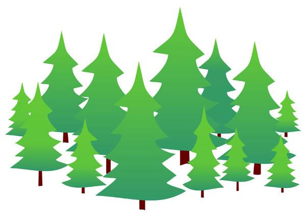 600x431 Evergreen Tree Clipart Evergreen Trees Free Clip Art Clipartix