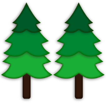 340x330 Forest Clipart Two Tree
