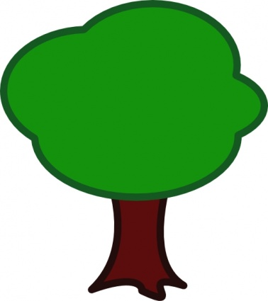 378x425 Green Forest Trees Clipart