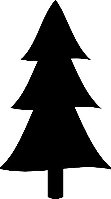 358x640 Pine Tree Silhouettes Clip Art