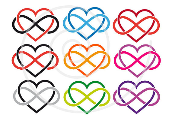 570x403 15 Hearts Clip Art With Infinity Sign, Never Ending Love, Love