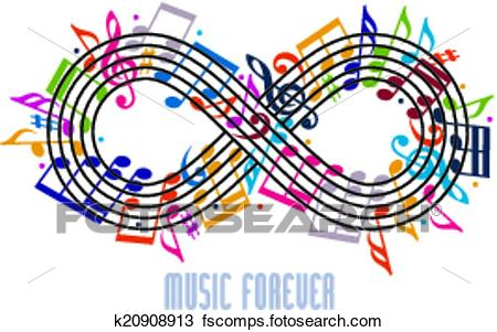 450x301 Clipart Of Forever Music Concept, Infinity Symbol Made