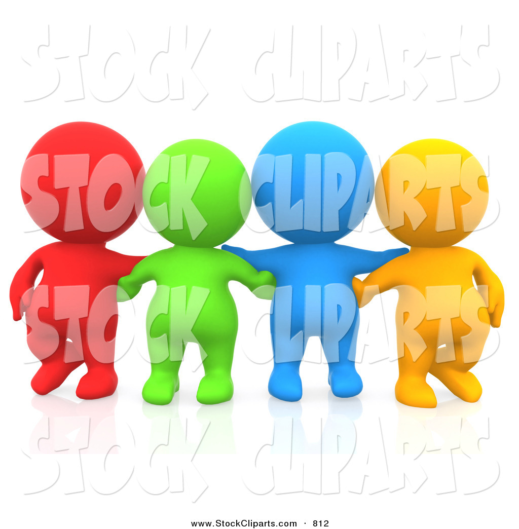 1024x1044 3d Clip Art Of A Line Of 3d Teeny People Friends Facing Front By