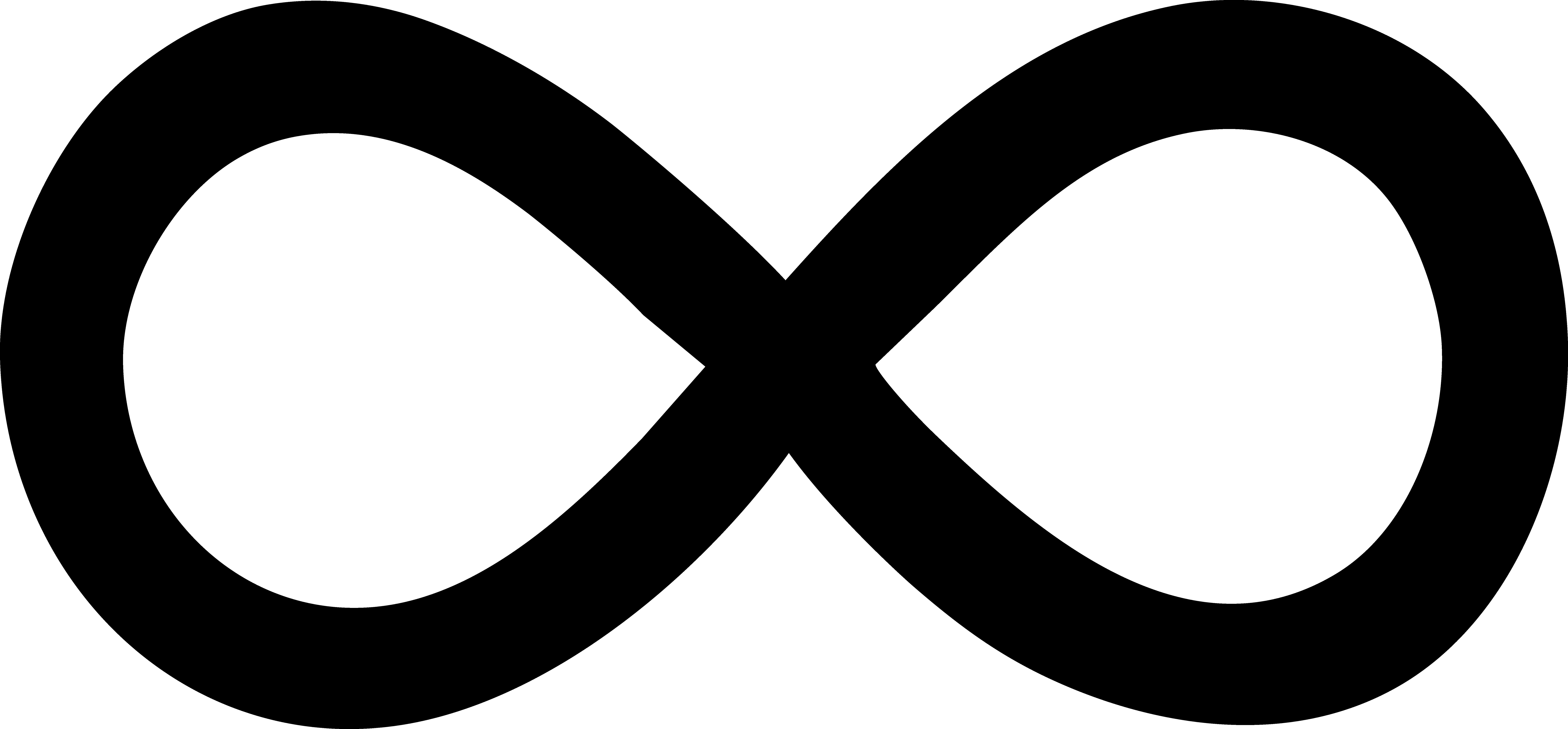 9903x4605 Simple Black Infinity Symbol
