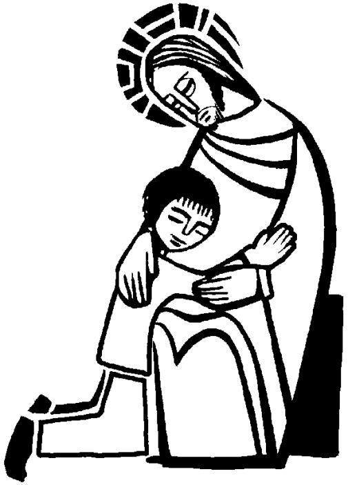 505x703 Sacrament Confession Coloring Page. Reconciliation Catholic Cross
