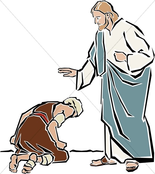 546x612 Christ Healing The Paralytic New Testament Clipart