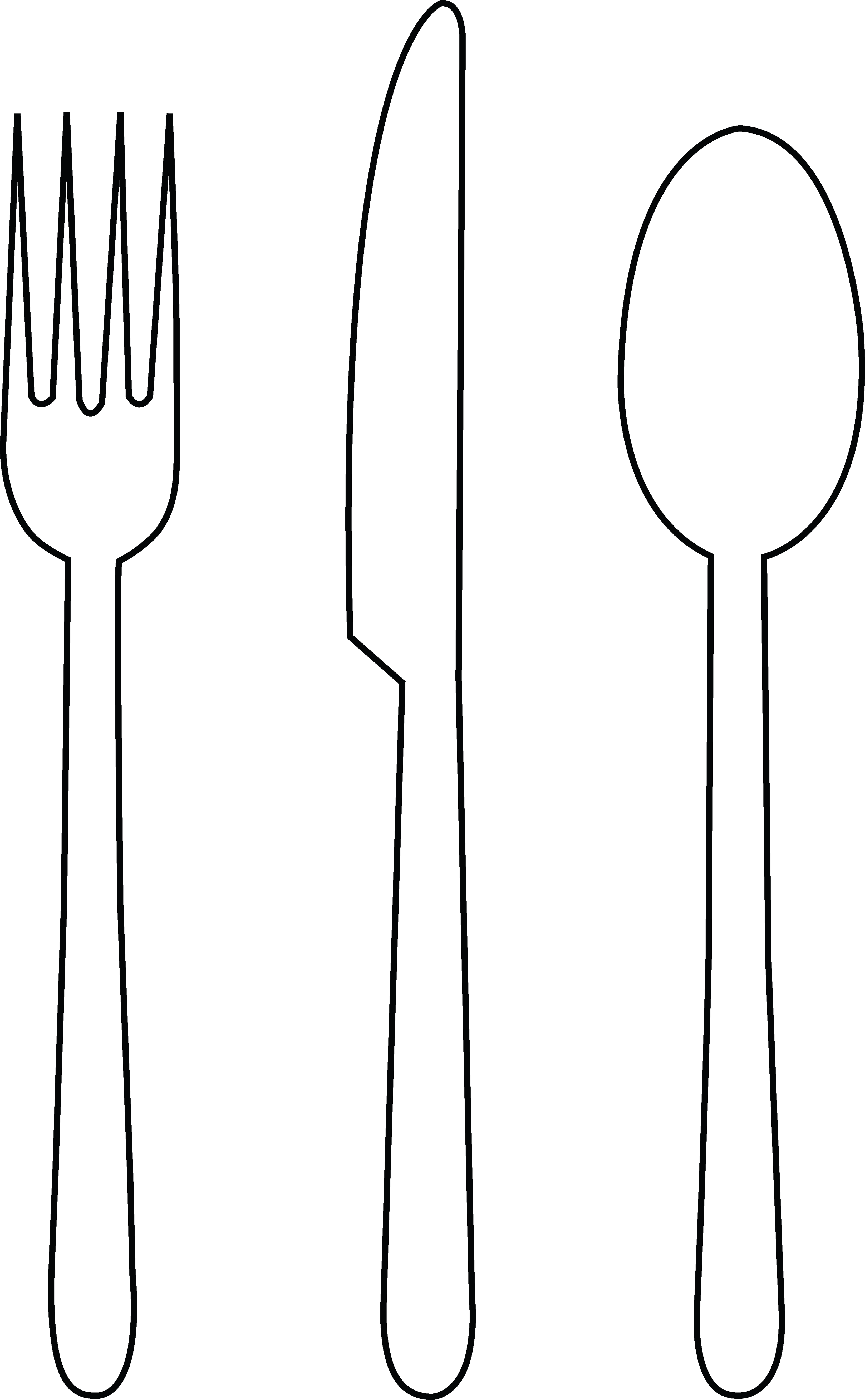 3284x5315 Fork Spoon Clip Art Clipart Free To Use Resource