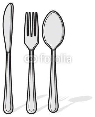 324x400 Knife Fork And Spoon Drawing
