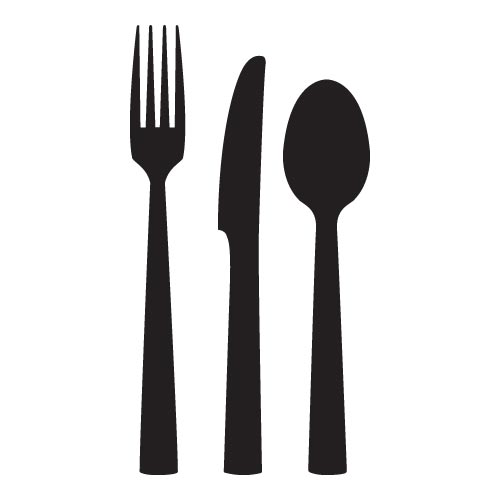 500x500 Clip Art Fork And Spoon Clipartfest