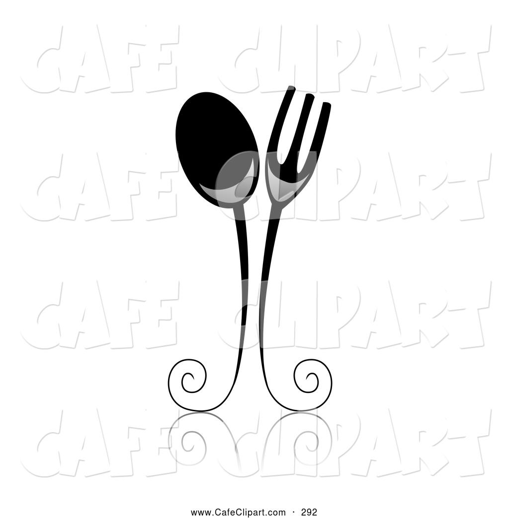 1024x1044 Vector Clip Art Of An Elegant Ornate Black White Spoon