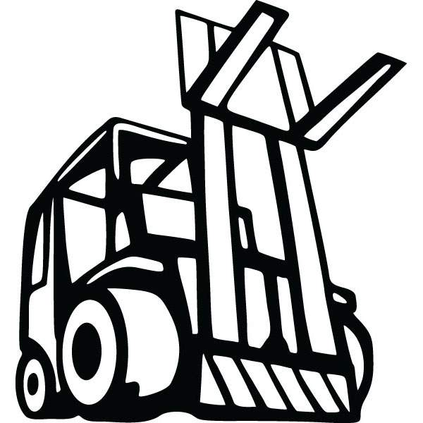 600x600 Forklift Lift Truck Equipment Art For Custom Products