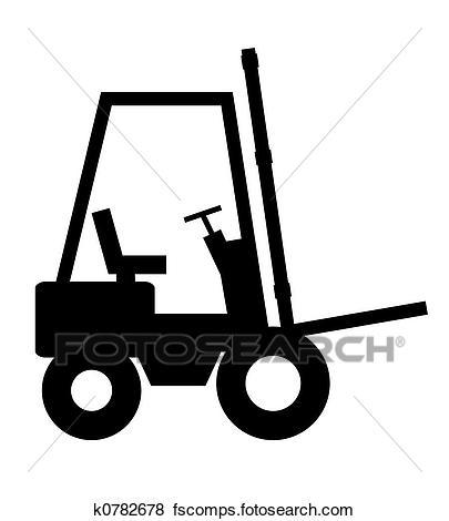 405x470 Stock Illustration Of Forklift K0782678