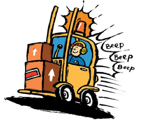 510x430 Crash Clipart Forklift
