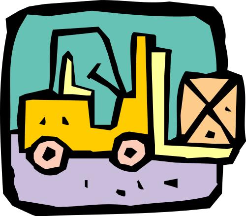 500x439 Forklift Clip Art Download