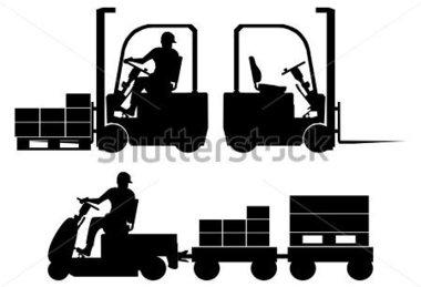 380x259 Forklift Silhouette Clip Art