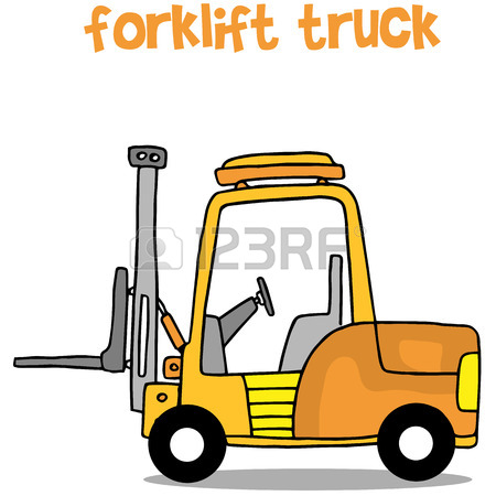 450x450 Forklift Tracktor With Hand Draw Royalty Free Cliparts, Vectors