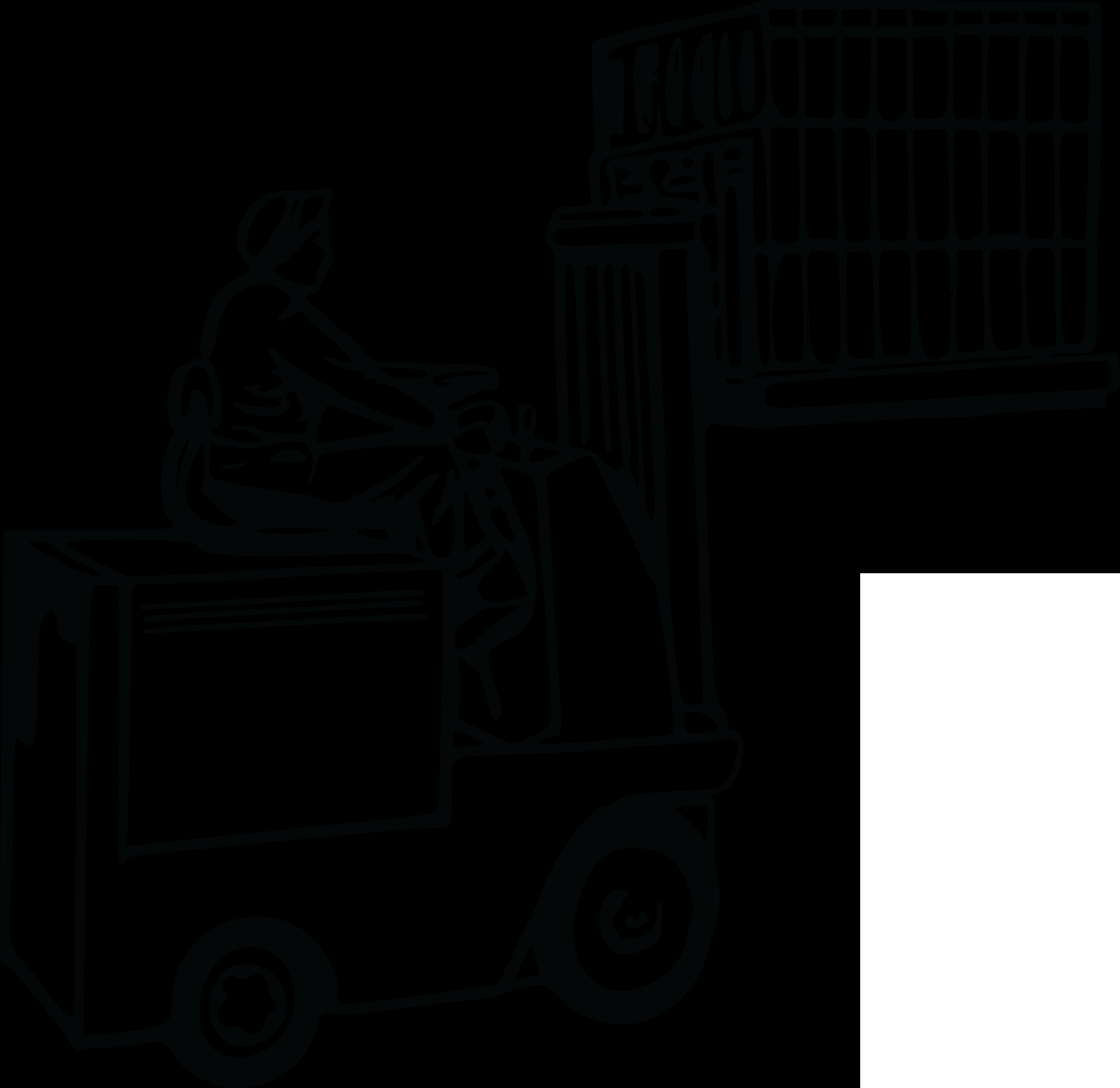 4000x3887 Forklift Outline Png Clipart