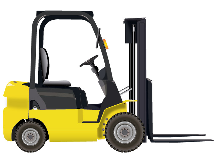 690x496 Free Clipart Forklift