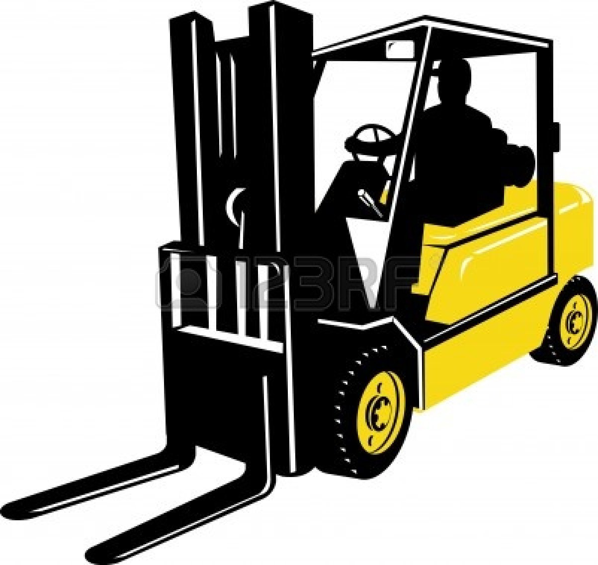 1203x1137 Black Amp White Clipart Forklift