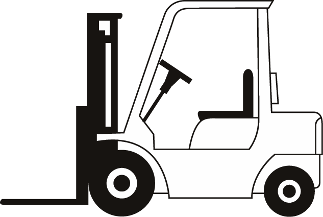633x425 Clipart Forklift Picture