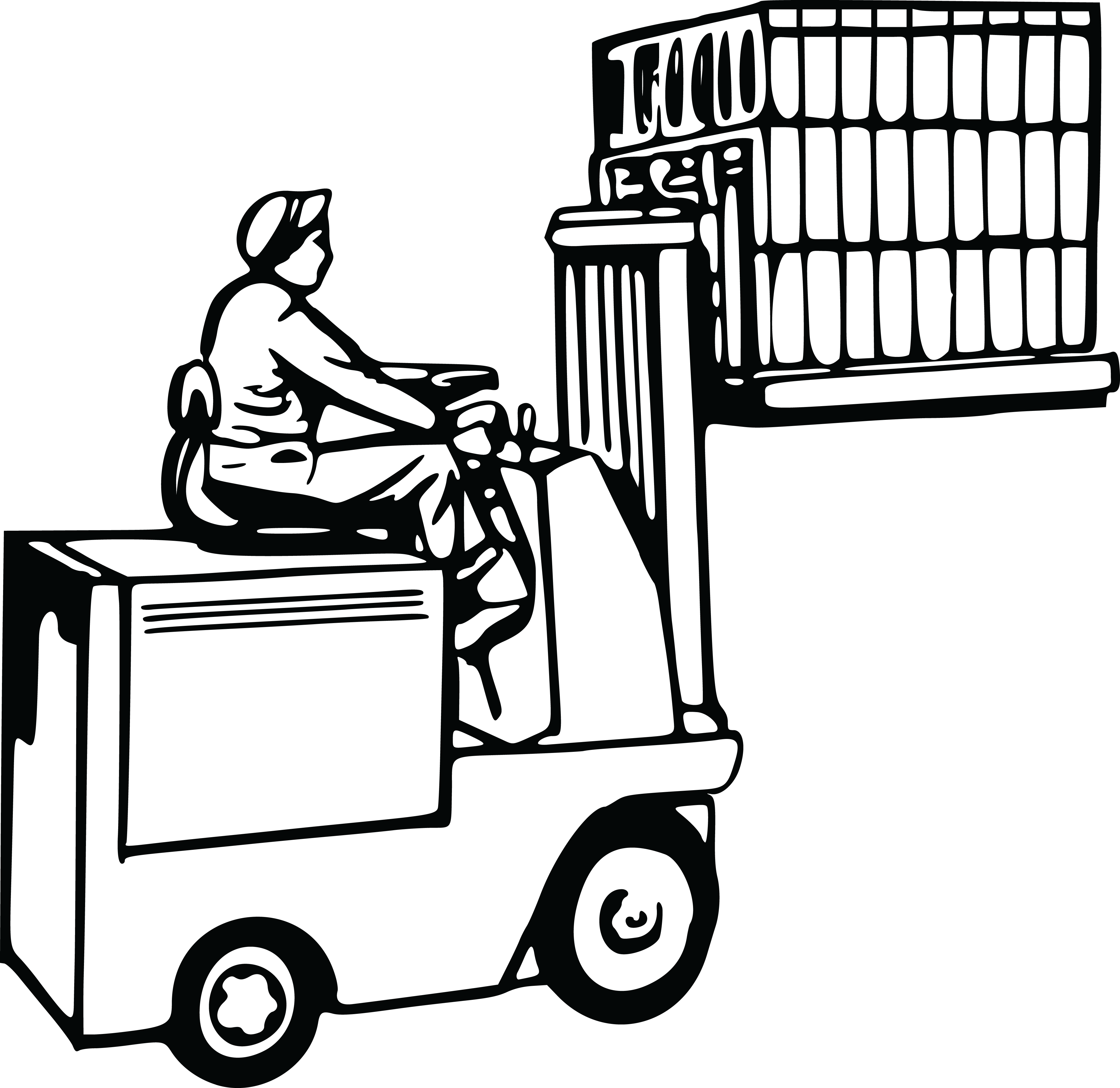 4000x3887 Free Clipart Of A Forklift