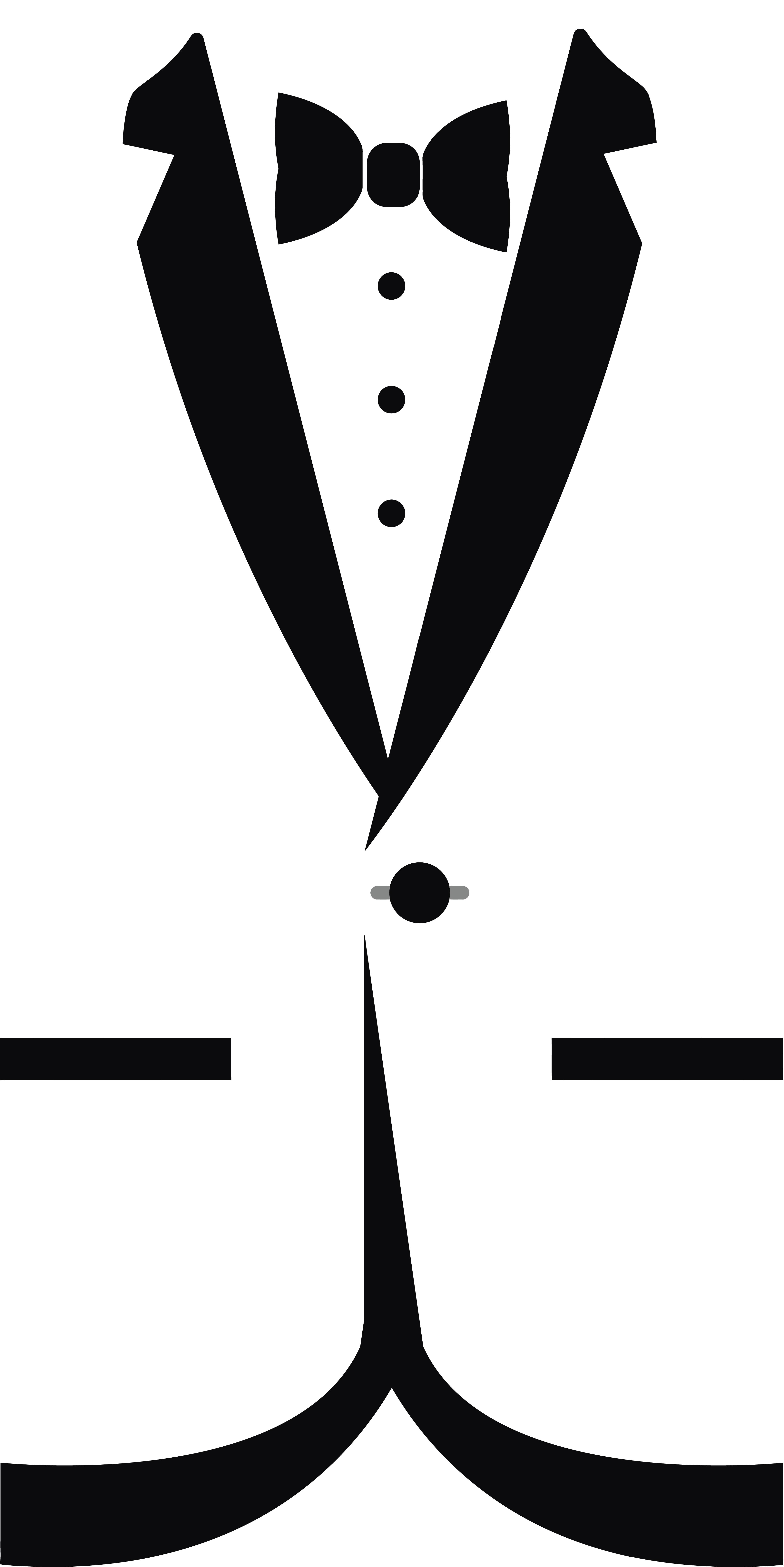 4000x7991 Tie Clipart Tuxedo Tie