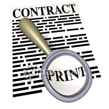 350x350 Contracts Clipart