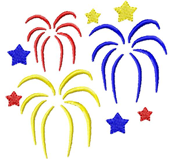 592x549 4th Clipart Firework July