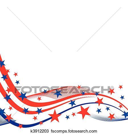 450x470 Clip Art Of Patriotic Border K4810677