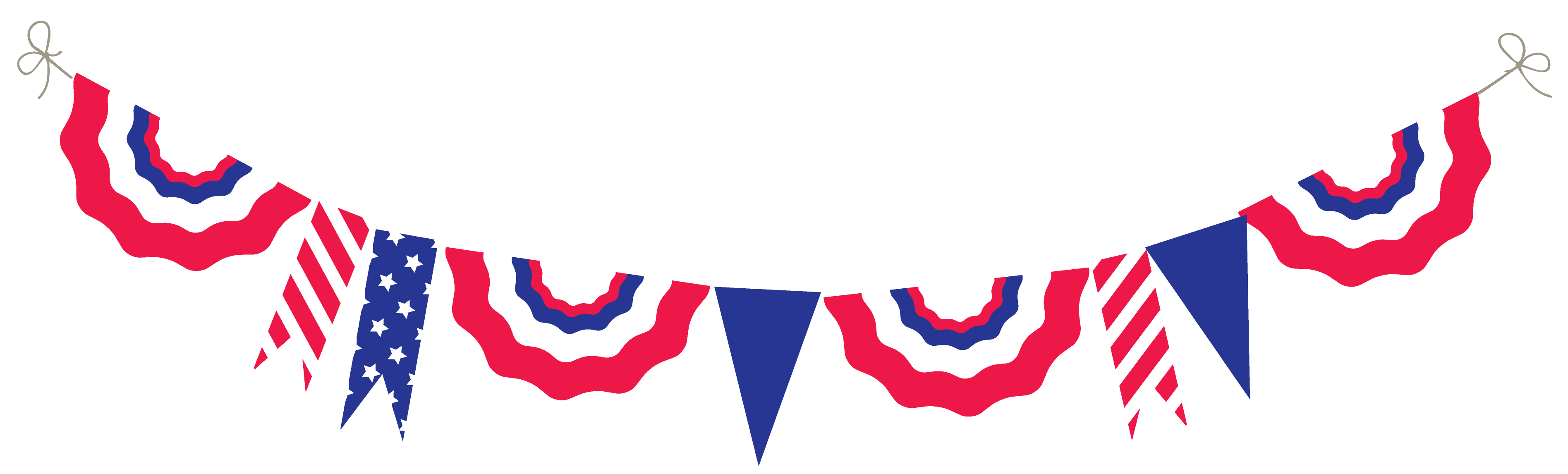 3791x1146 Fourth Of July Fourth Free 4th Clipart Independence Day