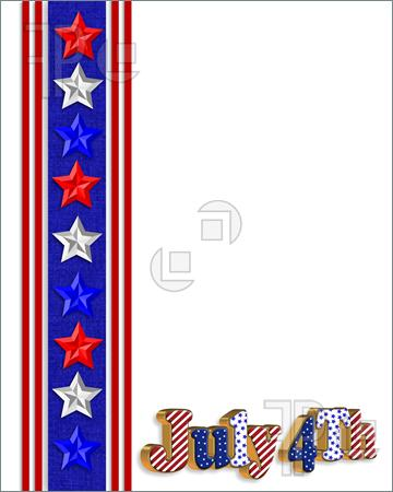 360x450 4th Of July Borders Clipart