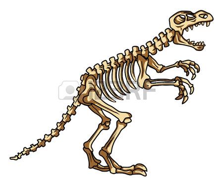 450x364 Dinosaur Fossil Stock Vector Clipart Panda