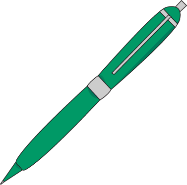 377x374 Ink Pen Clip Art Image Green Free Clipart Image