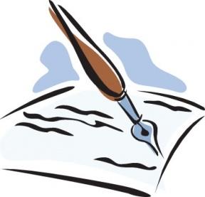 288x277 Paper Clipart Pen Paper