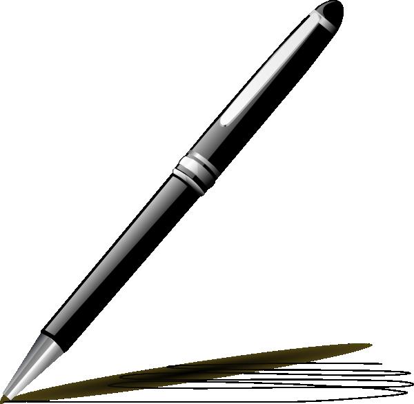 600x586 Stylish Pen Clip Art
