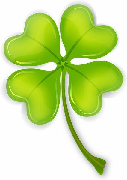 424x600 Four Leaf Clover Free Vector In Adobe Illustrator Ai ( Ai