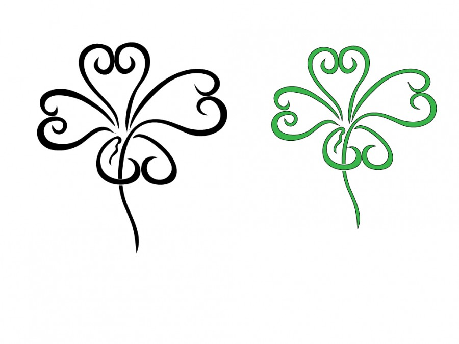 900x675 Four Leaf Clover Art Design
