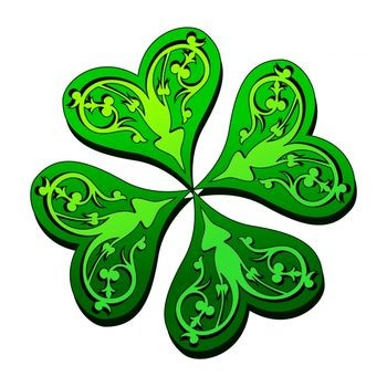 350x350 Four Leaf Clover Design For Tattoo