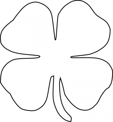 392x425 Four Leaf Clover Vector Clip Art Activity Days