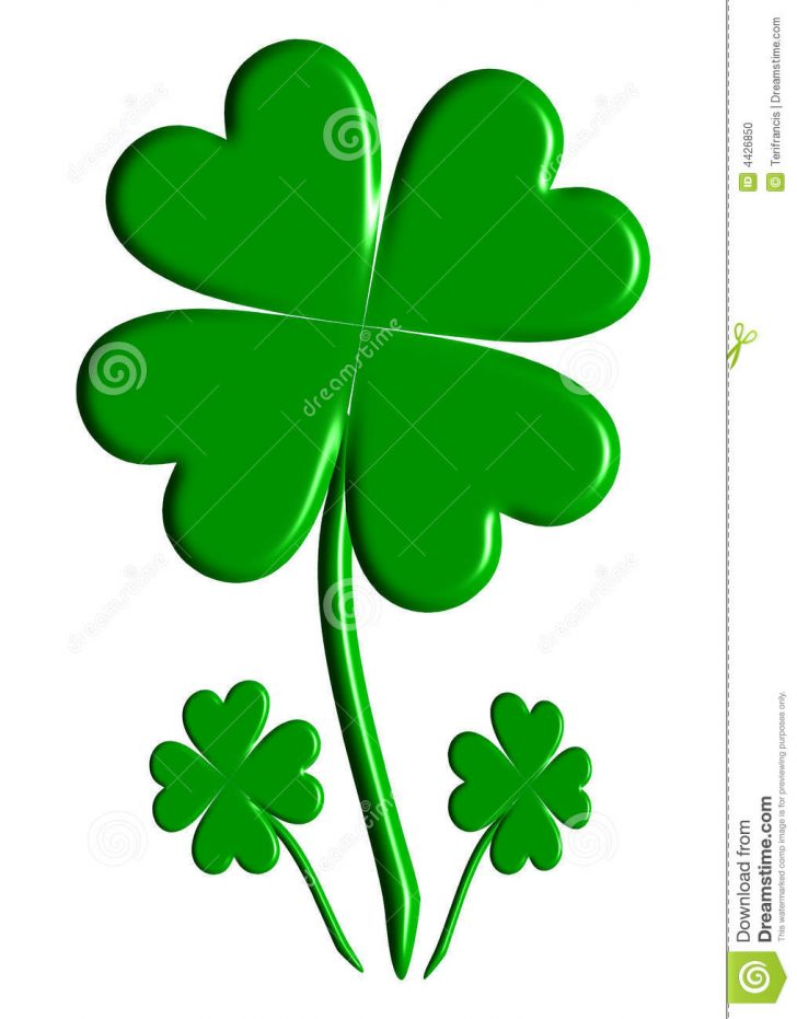 728x931 How To Draw A Four Leaf Clover Images Of Clovers Free Pictures