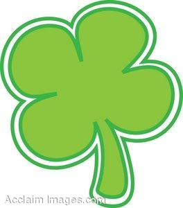 264x300 St. Patrick's Day Clip Art Of A Four Leaf Clover