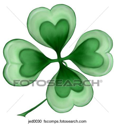437x470 Stock Illustrations Of Four Leaf Clover Jed0030