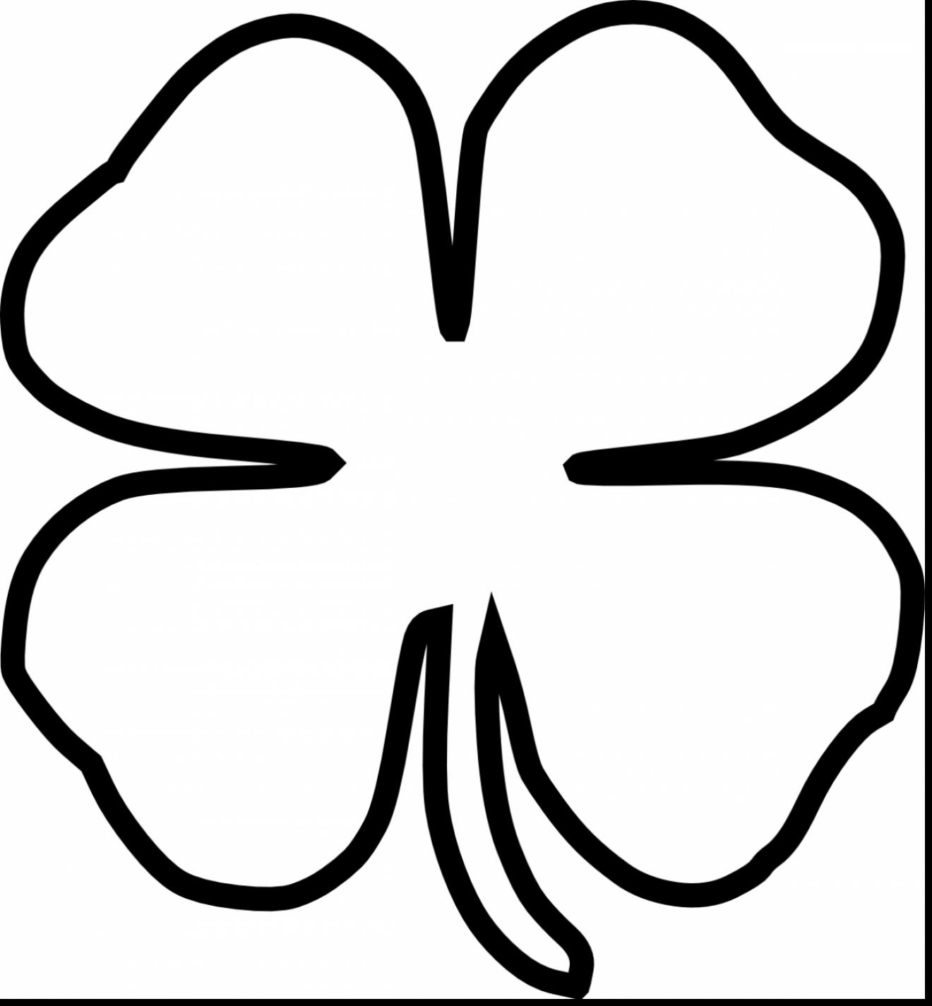 1320x1425 Surprising Four Leaf Clover Outline Clip Art With Four Leaf Clover